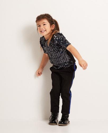Zwarte broek met pinstripe
